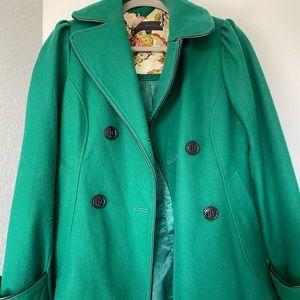Steve Madden Emerald Green Pea Coat